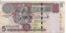 LIBYE 5 DINARS ND2004 VF P 69 - Libye
