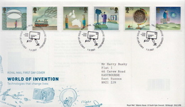 Great Britain Set And SS On 2 FDCs - Sciences