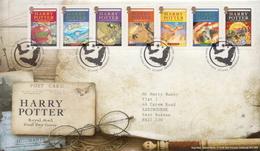 Great Britain Harry Potter Set And SS On 2 FDCs - Märchen, Sagen & Legenden