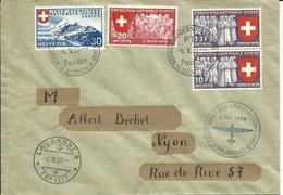 222,223,224, Exposition Nationale Suisse 1939, Obl. PTT 6.V.39 Pavillon Zürich - Suisse