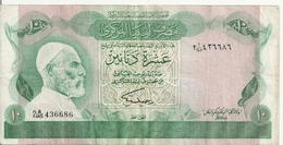 LIBYE 10 DINARS ND1980 VF P 46 B - Libye