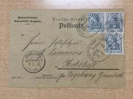 K6 Deutsches Reich 1902 Karte Der Nebeneisenbahn Eckernförde - Kappeln Nach Hoheluft SUPER!!!!! - Briefe U. Dokumente