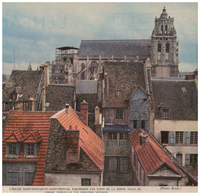 1963 - Iconographie - Gisors (Eure) - L'église Saint-Gervais-et-Saint-Protais - FRANCO DE PORT - Vieux Papiers
