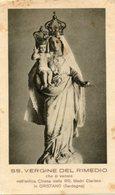 Oristano (Sardegna) - Santino Antico SS. VERGINE DEL RIMEDIO Chiesa Delle RR. Madri Clarisse - P91 - Religione & Esoterismo