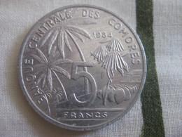 Comores: 5 Francs 1984 - Comoros
