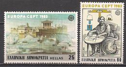 Griechenland  (1983)  Mi.Nr.  1513 + 1514  ** / Mnh  (5af16)  EUROPA - Europa-CEPT