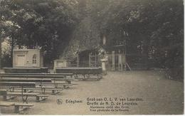 Edeghem.   -   Grot Van O.L.V. Van Lourdes.   -   Naar  Borsbeeck  1920  -  RELAIS STEMPEL! - Edegem