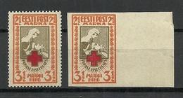 Estland Estonia 1921/22 Michel 29 A + B MNH - Estonie