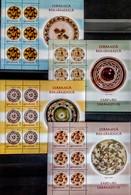 Romania - 2007 - Romanian Pottery - Porcelain Of Taranesti - Mint Definitive Stamp Sheets Set (3 Parts) - Nuevos
