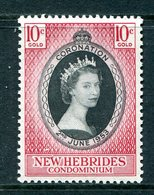 New Hebrides 1953 QEII Coronation HM (SG 79) - English Legend