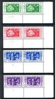 New Hebrides 1956 50th Anniversary Of Condominium Plate 1 Pairs Set MNH (SG 80-83) - English Legend