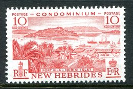 New Hebrides 1957 Pictorials - 10c Port Vila HM (SG 85) - English Legend