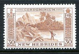 New Hebrides 1957 Pictorials - 30c River Scene HM (SG 89) - English Legend
