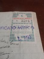 MARCA DA BOLLO ORDINE DEI MEDICI CHIRURGI LIRE 100 SOPRASTAMPATO LIRE  150 + ALTRE 2-1946 - Fiscali