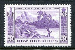 New Hebrides 1957 Pictorials - 50c River Scene HM (SG 91) - English Legend