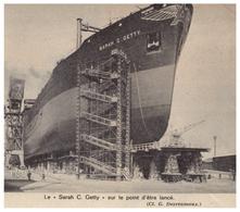 1963 - Iconographie - Dunkerque (Nord) - Lancement Du Pétrolier Sarah C Getty - FRANCO DE PORT - Unclassified