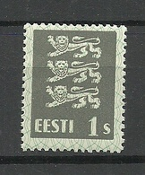 ESTLAND Estonia 1929 Michel 74 Thick Paper Type MNH - Estonie
