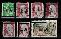 Algerie - Collection De 7 Timbres Surchargés EA Etat Algerien Oblitérés - Algeria (1962-...)
