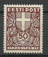 Estland Estonia 1939 CARITAS Michel 145 * - Estland