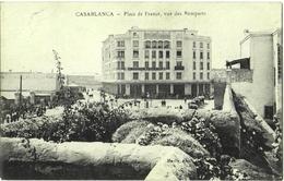 CPA DE CASABLANCA  (MAROC)  PLACE DE FRANCE VUE DES REMPARTS - Casablanca