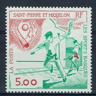 Saint Pierre And Miquelon, Sport, Basque Pelota, 1991, MNH VF - Unused Stamps