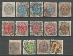 Denmark 1875 Year Used Stamps - 1864-04 (Christian IX)