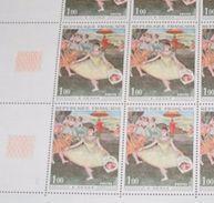 Timbre France Neuf** 1970 N° 1653 Tableau De DEGAS Feuille Complète - Feuilles Complètes
