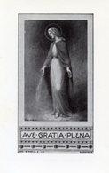 Santino Antico AVE GRATIA PLENA (Tip. Benedettine - Sorrento) - PERFETTO P91 - Religione & Esoterismo