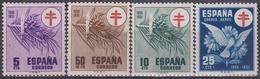 ESPAÑA 1950 Nº 1084/87 NUEVO PERFECTO - 1931-50 Neufs