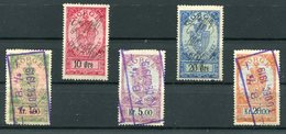 Circa 1919 Norway X 5 Revenues Stempelmaerke - Revenue Stamps