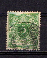 GERMANY    1889        5pf  Green       USED - Deutschland