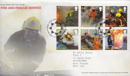 Great Britain Set On FDC - Firemen