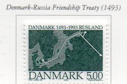 PIA - DANIMARCA -1993 : 500° Del 1° Trattato Di Alleanza Tra Russia E Danimarca  - (Yv 1063) - Danimarca