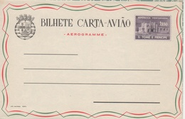 """Portugal 1961 St. Thomas And Prince Islands """"Airport Building,Berries"""" Aerogramme, Air Letter H&G F8 MINT IV - St. Thomas & Prince"""