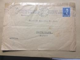 LITHUANIA 1936 Cover Kaunas To Bolton England - Litauen