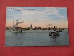US  Battleship  Texas In Norfolk Harbor Va.  Ref 3158 - Oorlog