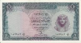 EGYPTE 1 POUND 1966 VF+ P 37 - Egypte