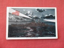 USS South Carolina  Night View   Ref 3158 - Oorlog