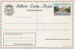 """Portugal 1969 St. Thomas And Prince Islands """"Post Office"""" Aerogramme, Air Letter H&G F11 MINT VII - St. Thomas & Prince"""
