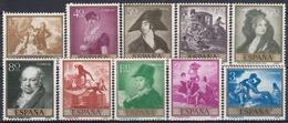 ESPAÑA 1958 Nº 1210/19 NUEVO PERFECTO - 1951-60 Nuevos & Fijasellos