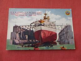 USS Illinois In Dry Dock New Orleans La.   Ref 3158 - Oorlog