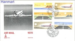 Malta 1978 Mi 574-579 FDC ( FDC ZE2 MLT574-579 ) - Airplanes