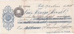 PORTUGAL - CHEQUE BANK - LUIZ FERREIRA ALVES - PORTO 1926 - Cheques & Traveler's Cheques