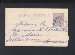 Romania Letter Card 1907 Ploiesti Gara - 1881-1918: Charles I