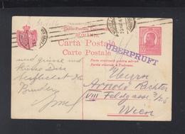 Romania Stationery 1916 To Vienna Censor - 1918-1948 Ferdinand, Carol II. & Mihai I.