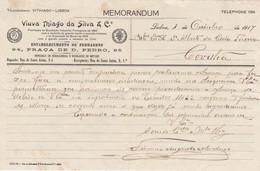 PORTUGAL - COMMERCIAL DOCUMENT - ESTABELECIMENTO DE FERRAGENS - LISBOA - 1917 - Portugal