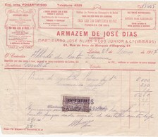 PORTUGAL - COMMERCIAL DOCUMENT - FOGO DE ARTIFICIO  - LISBOA - 1917 - FISCAL STAMP - Portugal