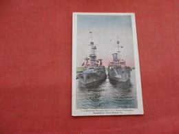 US Battleship Michigan  & USS Martha Washington Norfolk   Va. 1918------. Ref 3158 - Oorlog