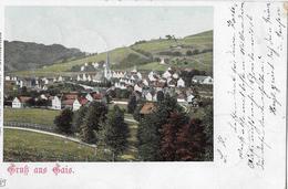 GRUSS AUS GAIS → Generalansicht Lithokarte Anno 1901 - AR Appenzell Rhodes-Extérieures