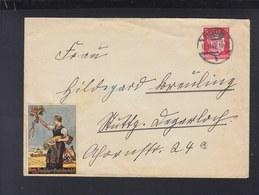 Dt. Reich Brief 1942 Backnang Vignette Erntedankfest - Germania
